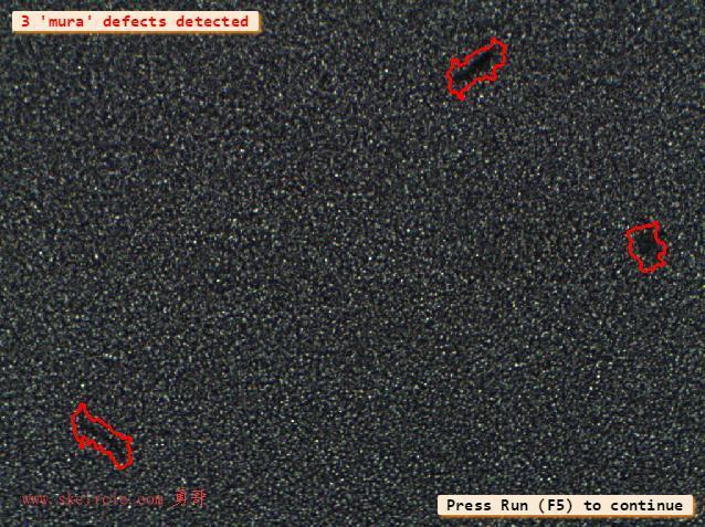 halcon纹理分析例子detect_mura_defects_texture.hdev 高纹理图像中的mura缺陷检测