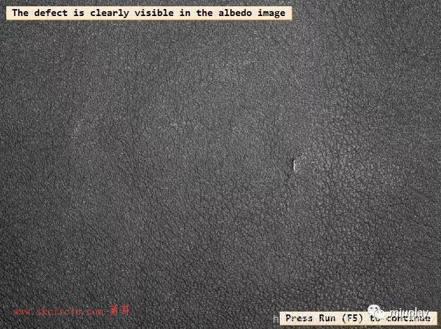 检测-纹理表面凸起、凹痕、划痕缺陷的检测(光度立体算子)