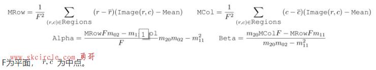 halcon特征提取(一):moments_gray_plane