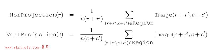 halcon特征提取(三)基于统计方式:gray_projections