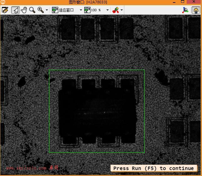 演示ncc相关性模板匹配在变焦图片仍能稳定查找特征