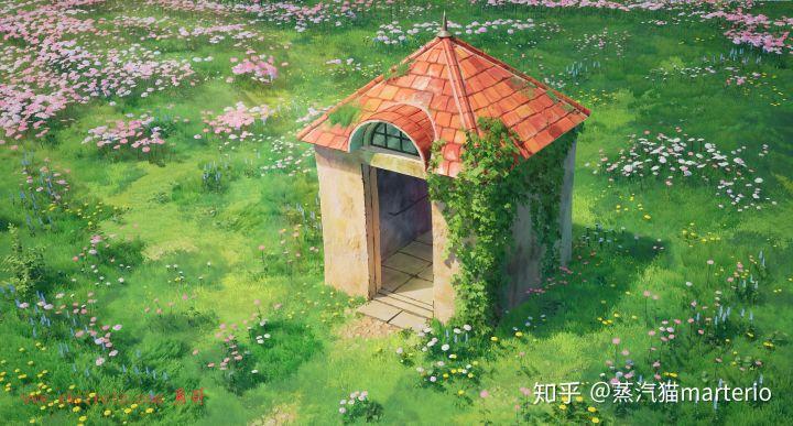 """虚幻4重现""""哈尔的移动城堡""""花园"""