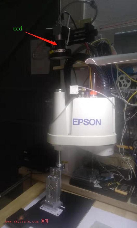 勇哥的视觉实验:固定上相机(眼在手外),SCARA机器人先拍后取方式的实验