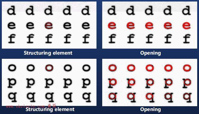 halcon中利用形态学开运算(open)做目标检测